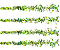 3d strings of cubes in multiple green Royalty Free Stock Photo