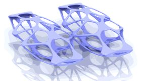 3D structure. Pattern designed using 3D modeled and rendered. Made and designed from scratch Stock Images