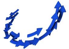 3d strzała błękitny Zdjęcia Stock