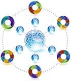 3d strzała diagrama sieci proces Zdjęcia Royalty Free