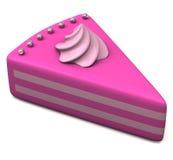 3d stuk van cake Stock Afbeeldingen