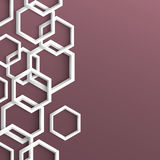 3d stylish geometric background Royalty Free Stock Photo