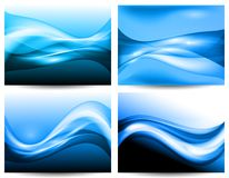 3d stylized water waves,. Vector 3d waves, EPS10 with transparency and mesh Royalty Free Stock Images
