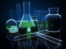 3d substancj chemicznych kolby Zdjęcie Stock