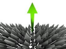 3d success arrow Royalty Free Stock Photo