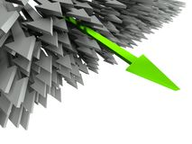 3d success arrow Stock Images