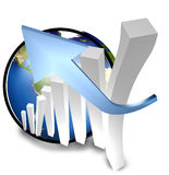 3d success business earth Stock Images