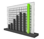 3d Success Chart. 3d Black and Green Success Chart Stock Photos
