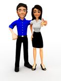 3D Successful business couple Stock Image