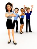 3D Successful business group Stock Photo