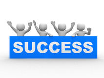 3D successful business group Royalty Free Stock Images
