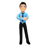 3D successful business man Stock Images