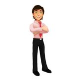 3D successful business man Stock Photography