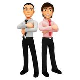 3D successful business men Royalty Free Stock Photography