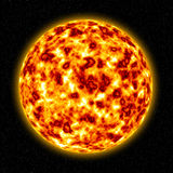 3D Sun. Illustration high resolution digital background Royalty Free Stock Images