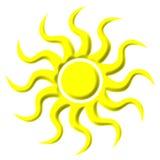 3D Sun illustration libre de droits