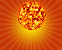 3D sun Royalty Free Stock Photo