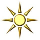 3D Sun de oro Fotos de archivo libres de regalías