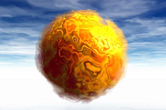 3D Sun Punkt Stockbild