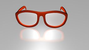 3D Sunglasses. 3D Business Red sunglasses with reflection Stock Photography