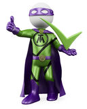3D Superhero - Tick man Stock Photo