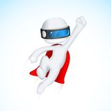 3d Superhero in Vactor Stock Photo