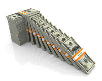 3d support for falling dollar Royalty Free Stock Image