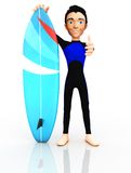 3D surfer Royalty Free Stock Images