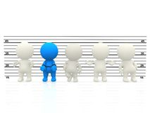 3D Suspects in line Royalty Free Stock Photo