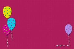3d sväller pink stock illustrationer