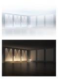 3D svuotano i blocchi per grafici in una stanza Immagini Stock Libere da Diritti