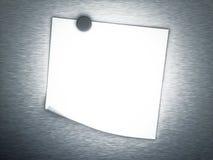 3d svuotano la nota sulla priorità bassa del metallo Fotografia Stock Libera da Diritti