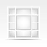 3d svuotano lo scaffale per libri Fotografia Stock Libera da Diritti