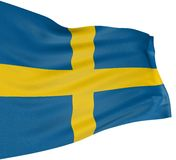 3D Swedish flag Stock Photos