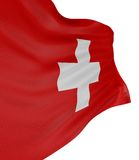 3D Swiss flag Royalty Free Stock Photo
