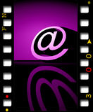 3D @ symbol Royalty Free Stock Photography