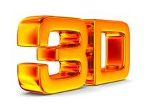 3D symbol na białym tle ilustracja wektor