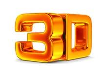 3D symbol na białym tle royalty ilustracja