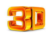 3D symbol on white background Stock Photos