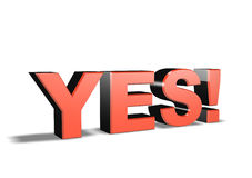 3d symbol word YES Stock Photo