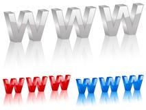 3d symbol Www Fotografia Stock