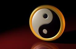 3D - Symbole 01 de Yang d'und de Yin Image stock