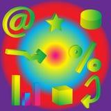 3D Symbolen Stock Afbeelding