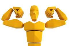 3d symbolic athlete. The 3d symbolic athlete isolated Stock Photos
