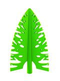 3d symbolic New Year's fir tree Royalty Free Stock Photography