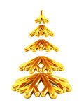3d symbolic New Year's fir tree Stock Photography