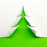 3d symbolic New Year's fir tree Royalty Free Stock Photos