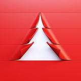 3d symbolic New Year's fir tree Royalty Free Stock Photo
