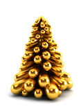3d symbolic New Year's fir tree Stock Images