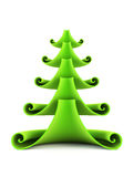 3d symbolic New Year's fir tree Royalty Free Stock Image